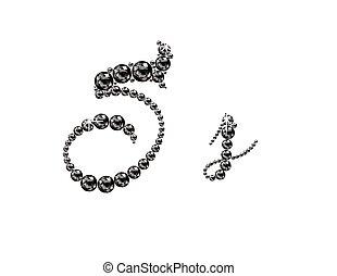 Ss Onyx Script Jeweled Font - Ss in stunning Onyx Script...