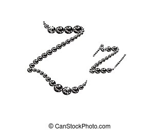 Zz Onyx Script Jeweled Font - Zz in stunning Onyx Script...
