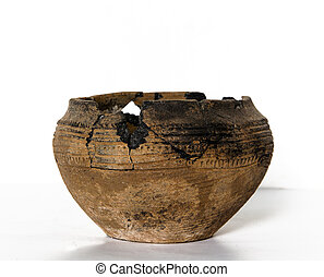 destroyed ancient pottery - fragments of destroyed ancient...