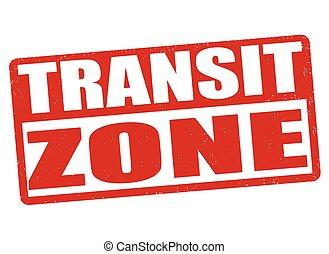 Transit zone stamp - Transit zone grunge rubber stamp on...