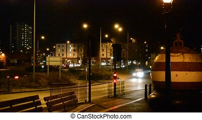 Ipswich at night - Ipswich town at night timeCars stopped by...