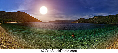 Sunset at Antisamos Beach - Warm Sunset at Gorgeous...