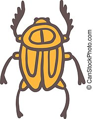 Egypt scarab beetle illustration - Egypt scarab beetle...