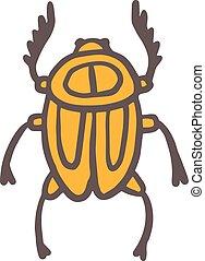 Egypt scarab beetle illustration - Egypt scarab beetle...