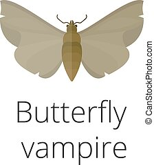 Vampire butterfly of Death illustration. Vampire butterfly...
