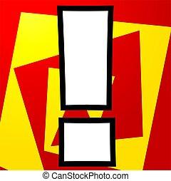 Exclamatory mark - Illustration of a exclamatory mark