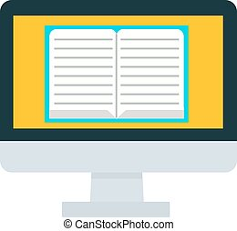 E-books computer concept - E-books computer isolated on...
