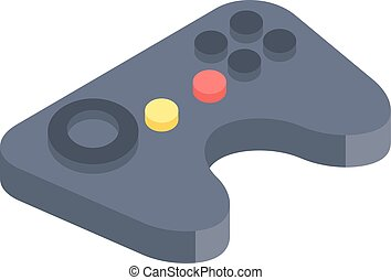 Game console joystick isolated on white background