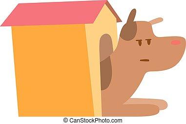 Dog house - Doghouse isolated on white background. Dog house...