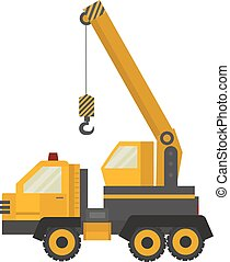 Crane truck - Vector Crane truck isolated on white...