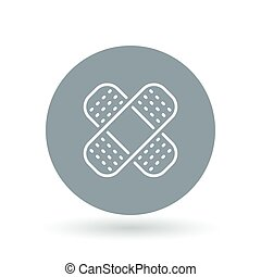 Bandaid icon Bandage sign plaster symbol Vector illustration...