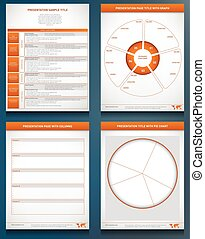 Four performance chart graphics - Four graphic templates...