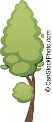 Cartoon tree illustration isolated on white background -...