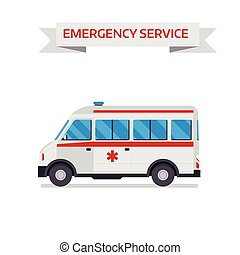 Ambulance car isolated on white background. Ambulance car...