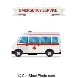 Ambulance car isolated on white background. Ambulance car...