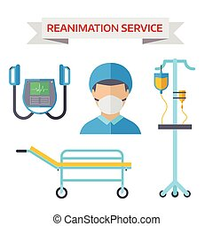 Ambulance reanimation symbols - Reanimation symbols isolated...