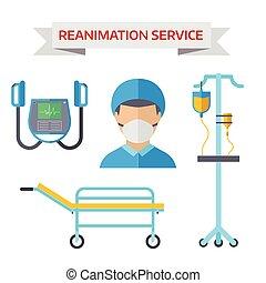 Ambulance reanimation symbols - Reanimation symbols isolated...