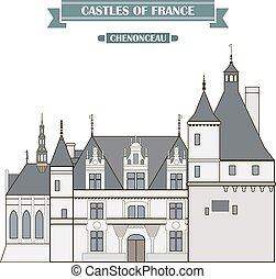 Chenonceau - The ancient castle, a monument of architecture...