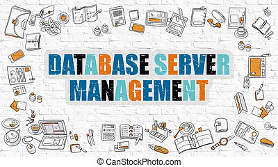 Database Server Management in Multicolor Doodle Design -...