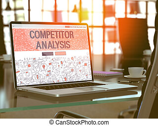 Competitor Analysis Concept on Laptop Screen.