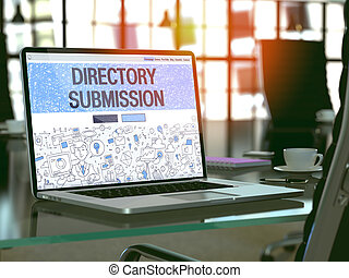 Directory Submission Concept on Laptop Screen. - Directory...