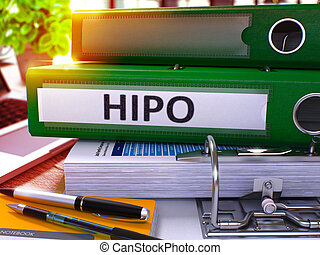 Green Office Folder with Inscription HiPo - Green Office...