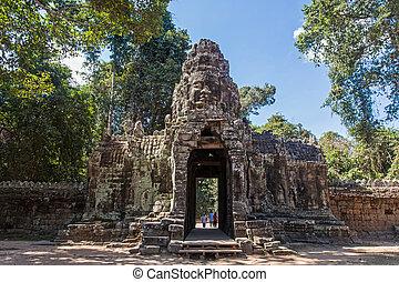 Ta Prohm Temple in Angkor, Cambodia.