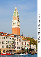 campanile - View of the campanile from the grand canal in...