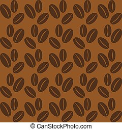 Seamless background with coffee beans.