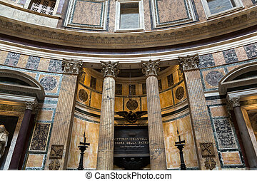 Pantheon in Rome, Italy - ROME, ITALY - JUNE 15, 2015:...