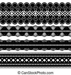 four black ribbons