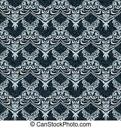 denim with lacy - Denim seamless background with lacy...
