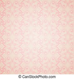 Seamless pattern wallpaper in Victorian style.