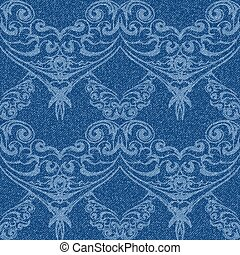 denim with openwork - Denim seamless background with...