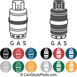 Liquid Propane Gas Vector Illustration and web icons