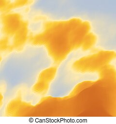 Sky With Clouds. Modern pattern. Nature background. Modern...