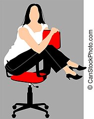 lady sitting in a chair