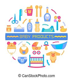 Baby design element with different