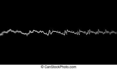Acoustic waves on the screen - Loopable video 1920x1080 -...