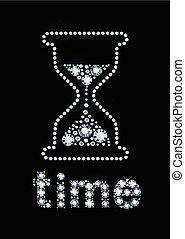 Diamond Hour Glass - Hour Glass made of shiny gems
