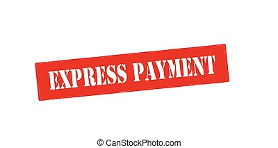 Express payment - Rubber stamp with text express payment...