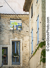 Peyriac-de-Mer Languedoc-Roussillon, France, old typical...