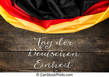 Germany Flag with germany Text for the german unity day