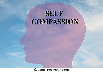 Self Compassion concept - Render illustration of Self...