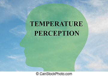 Temperature Perception concept - Render illustration of...