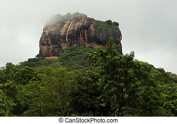 Sigiriya - Lion\'s rock in Sri Lanka,ancient fortress and...