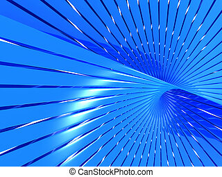 Abstract Blue Shiny Line Pattern Background
