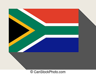 South Africa flag in flat web design style