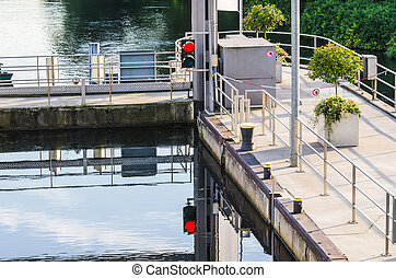 Sluice Baldeneysee - View from the top of the sluice at...