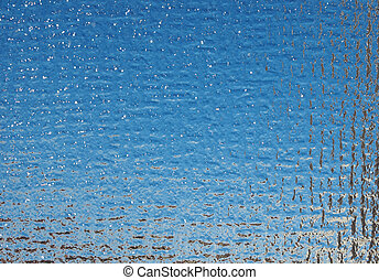 Blue glass background - Blue glass texture useful as a...